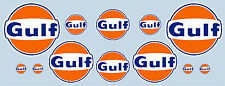Gulf logo 12 pièces autocollant set-official licensed golfe decals