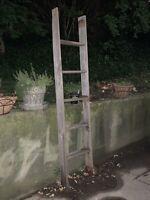 Primitive Ladder~Rustic~Farmhouse~Country~Decor~Quilts~Flower Pots~