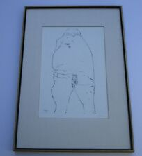 LEONARD BASKIN ETCHING ABSTRACT EXPRESSIONISM NUDE CREATURE MODERNIST SIGNED