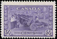 1942 Canada Mint H F Scott #261 50c KGVI War Issue Stamp