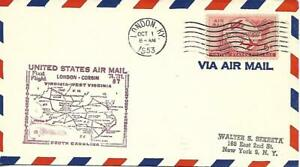 First Airmail Flight London KY October 1 1953 AAMC# 87W60