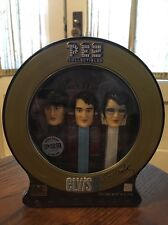 PEZ Collectibles Elvis Presley Set of 3 Dispensers with Candy and CD NIB Sealed