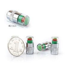 4Pcs Car SUV Aluminum Tire Pressure Monitor Cap Auto Wheel Tire Valve Stem Cover