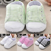 Unisex Toddler Kids Baby Girl Boy Cute Casual Printing Bandage Canvas Soft Shoes