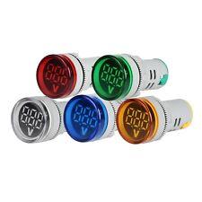 22mm Round Digital Led Ac Panel Voltmeter 60 500v Voltage Indicator Display
