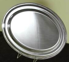 Oval Platter 18 in. with Bead Pattern, Applied Border