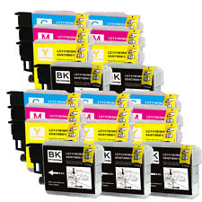 20 PK Ink Cartridges Set use for LC 61 LC61 MFC 295CN 490CW 495CW 790CW 5490CN