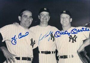 Mickey Mantle / Yogi Berra 8x10 SIGNED PHOTO AUTOGRAPHED ( Yankees HOF ) REPRINT