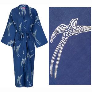 Susannah Cotton Lightweight Kimono Robe - Dressing Gown Women's Bathrobe Yukata
