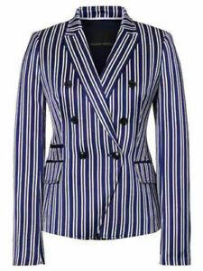 Banana Republic Women's Striped Double Breasted Blazer Size 0 , 8, 10 in Purple