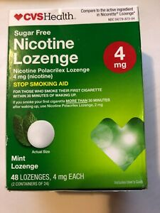 CVS Health Sugar-Free Nicotine Lozenge 4mg Coated Mint 48 Pieces