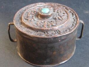 """Antique Box """" Ghau """" Copper Of Bhutan"""