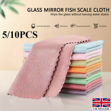 5/10Pcs NanoScale Streak-Free Miracle Polishing Cleaning Cloths Reusable UK SHIP