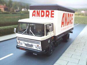 1/43 Scale DAF 2600 Box Van Lorry 'Andre' (brown - cream) by Altaya