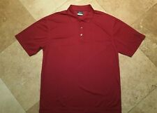 Nike Golf Short Sleeve Polo Shirt 100% Polyester Red L
