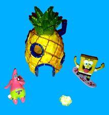 NEU Spongebob Aquarium Ananas Deko Set und Figur Spongebob Ananashaus Patrick