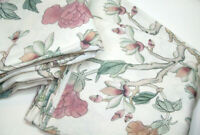 Williams Sonoma Home Aerin Wild Rose Printed Linen Floral King Duvet Cover Shams