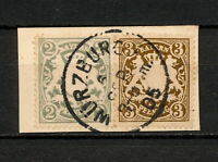 (YYAU 387) Bayern 1905 USED Mich 60, 65 Bavaria Germany Wurzburg cancel