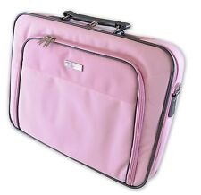 Dicota Base XX 15 -17 Inch Large Laptop Case Bag Shoulder Strap Pink Grey
