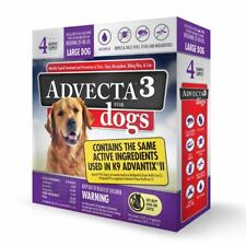 ADVECTA III Flea & Tick Treatment For large Dogs 21-55 lbs 4 Month Supply New