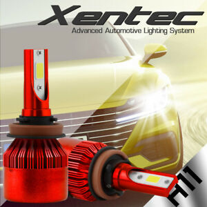 2x H11 H9 388W LED Headlight Head Light Kit Low Beam Bulb 38800LM HID Replacemen