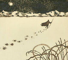 Catherine Gross - Framed 20th Century Etching, Des pas sur le Neige