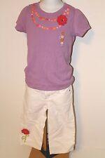 Gymboree Pretty Posies Girls Size 8 Floral Top Shirt NWT Capri White Jeans NEW