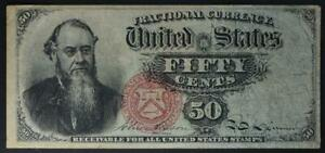 50 Cent Fourth Issue Fractional Currency Stanton Problem Free Very Fine NoResrve