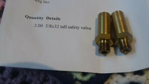 Live steam safety valves 3/8x32 Tall, used tested only once