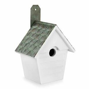 Good Directions BH205WWHT Classic Cottage Verdigris Pure Copper Roof Bird Hou...