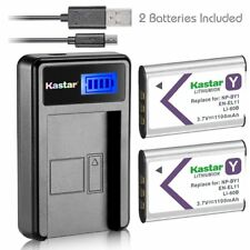 NP-BY1 EN-EL11 LI-60B Battery & LCD Charger for Pentax Optio L50 M50 M60 S1