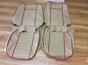 Seat Cover Set (pair), MGB & GT's 68>, choice of colors & piping, Premium Vinyl