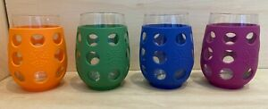 Lifefactory BPA Free 17 oz Glass Wine Tumblers w/ Silicone Sleeve 2 Pack