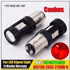 2x BAZ15D P21/4W 150° CANBUS Red 2835 21 LED Car Brake/Stop/Reverse Light Bulb