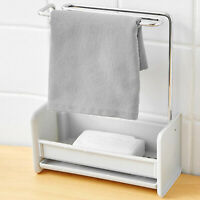Kitchen Sink Double Draining Sponge and Cloth Organiser Holder Caddy Basket UK