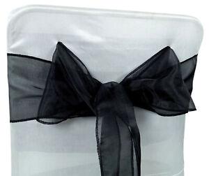 Darling Souvenir Pack 75 Organza Bow Sash For Wedding Chair Cover Sash-DS-RN-30