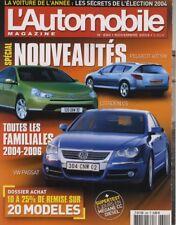 L'AUTOMOBILE MAGAZINE n°690 11/2003 PASSAT 407 SW C5 MEGANE CC DCI