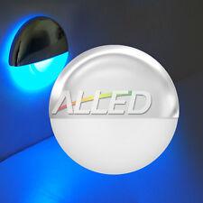12V Blue Waterproof LED Half Round Courtesy Light Outdoor/Garden/Step/Deck Lamp