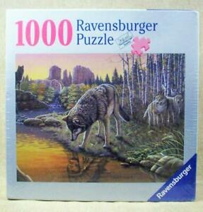 Ravensburger 1000 Pc Jigsaw Puzzle REFLECTIONS Wolf Wolves Indian Chief Nature