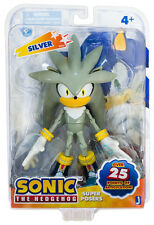 """Sonic The Hedgehog: Super Poser Sonic Silver 6"""" Action Figure *New*"""