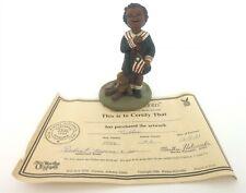 "All God'S Children 5"" Nellie Pledge Of Allegiance Figurine W/Coa & Box"