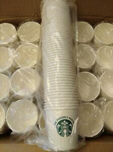 Lot of 1000 Starbucks Paper Coffee Cups 4oz Espresso Sample Size Cups