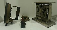 Rare Vntage Antique MERIDEN HOMELECTRICS Electric Toaster & HOTPOINT Iron W CORD