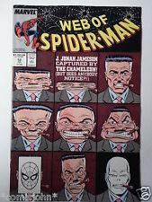 WEB OF SPIDERMAN # 52.  JULY 1989.  VFN+  HIGH GRADE