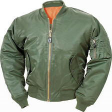 XXL 2XL OLIVE GREEN MA1 FLIGHT ARMY PILOT MILITARY BOMBER JACKET COAT