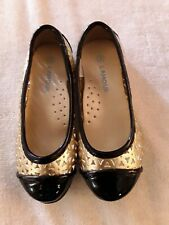 L' Amour Toddler Girl Gold Size 9 Dress Shoes