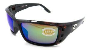 Costa Del Mar Sunglasses Permit 63-16-125 Tortoise / Green Mirror 580P Polarized