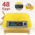 48Egg Incubator Automatic Turning Digital Temperature Control Chicken Hatcher
