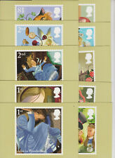 GB POSTCARDS PHQ CARDS MINT 2015 ALICE IN WONDERLAND PACK 396