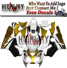 X Body Injection For Kawasaki ZX12R 2002-06 ABS Fairings Kit Bodywork White Gold